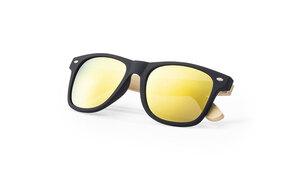 Lunettes de soleil personnalisées mitrox en bambou jaune 2
