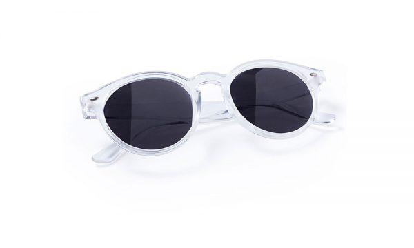 Lunettes de soleil personnalisées nixtu blanche