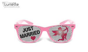 Lunette mariage Just Married demonstration