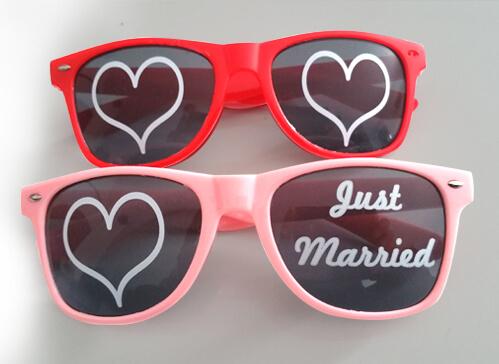 Lunette personnalisable mariage impression directe