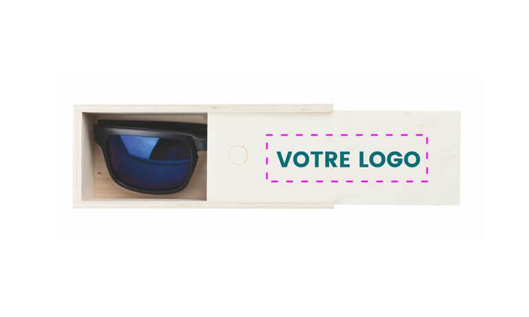 Étui en bois personnalisables pour lunette de soleil avec votre logo