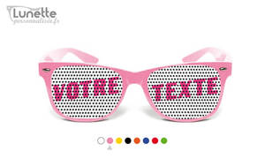 Lunette mariage rose