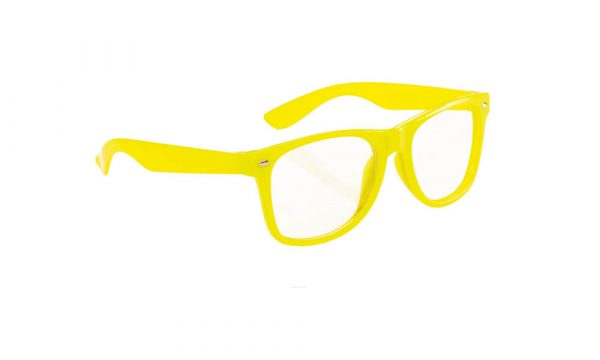 Lunette personnalisée classico clair jaune